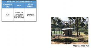 locales en parque de Amalucan