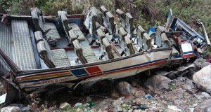 En la India, accidente de autobús deja 44 muertos y 13 heridos