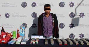 Detienen a asaltante de farmacia en San Francisco Totimehuacán