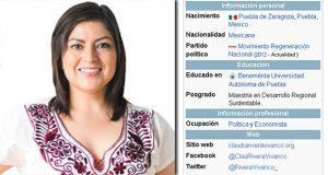 Aparece Claudia Rivera en Wikipedia: primera alcaldesa de izquierda