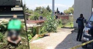 En la México-Puebla, hallan cadáver maniatado y con narcomensaje clavado