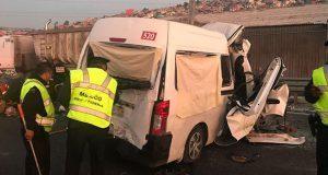 Choque en la México-Pachuca deja 12 muertos y al menos 5 heridos