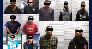 SSP asegura 13 personas y 6 vehículos en 7 municipios de Puebla