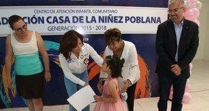 "Dinorah acude a graduación de alumnos de CAIC ""Emiliano Zapata"""