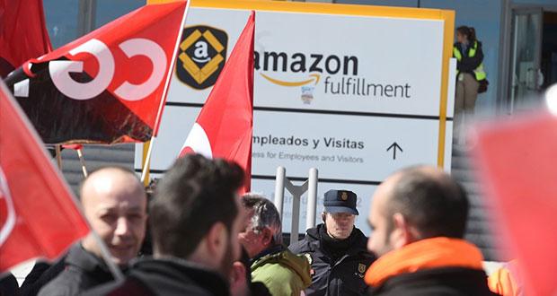 Empleados de Amazon en Europa declaran huelga en día de ofertas