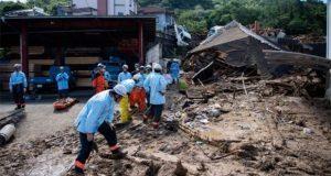 Por inundación en Japón suman 157 muertos y 56 desaparecidos