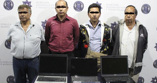 Ssptm detiene a ocho presuntos asaltantes en Puebla capital