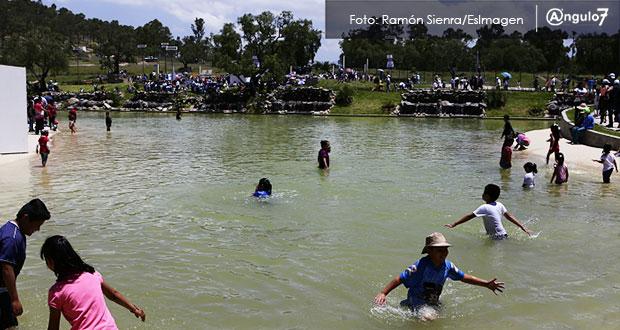 Lunes no funcionará lago en parque de Amalucan