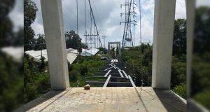 Con 60% de avance, construcción de puente peatonal en Juan Galindo