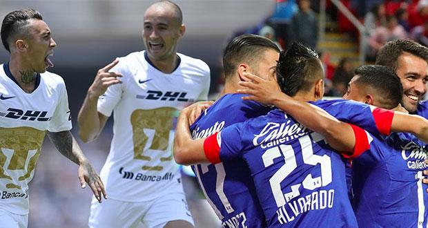 Pumas y Cruz Azul, junto con los regiomontanos, lideran la Liga MX