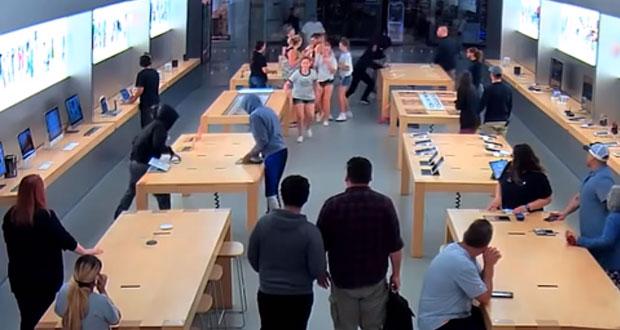Roban 27 mil dólares en productos de una tienda de Apple en EU