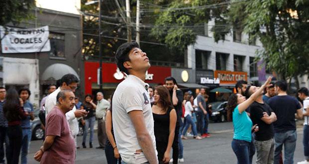 Puebla, sin daños tras sismo de 5.9 grados con epicentro en Oaxaca