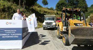 Con 74.3 mdp, inicia rehabilitación de carretera Azumbilla-Tlacotepec