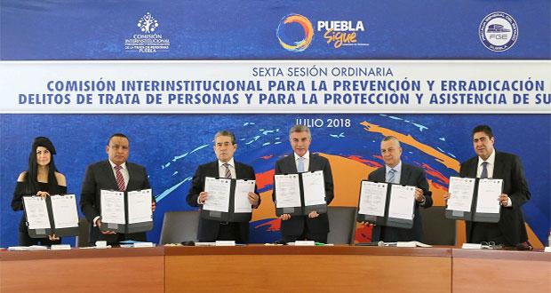 Puebla, Tlaxcala, Edomex y CDMX colaboran contra trata de personas