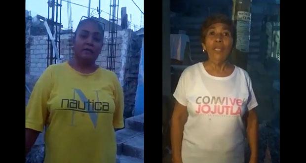 En videos, damnificados de Morelos confirman apoyo de Morena