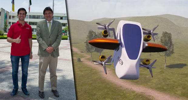 Universitarios diseñan vehículo eléctrico que volaría hasta 40 km