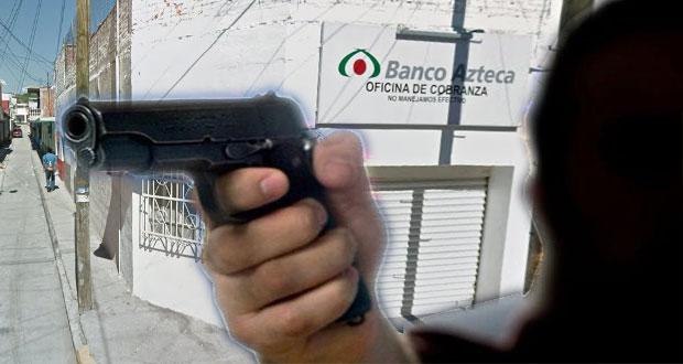 Ataque contra 3 empleados de Banco Azteca en Izúcar deja a uno grave