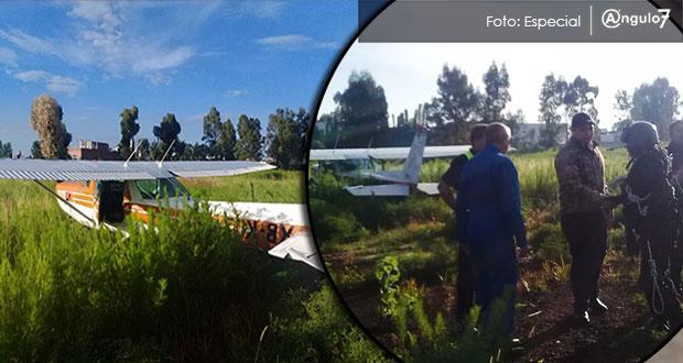 Otra avioneta aterriza forzosamente, ahora por la Udlap; van 2 casos en agosto