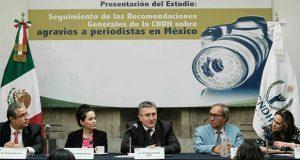 Pese a CNDH, impunes 99.6% de agresiones a periodistas, acusan