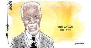 Caricatura: Kofi Annan descansa en paz
