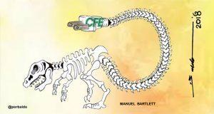 Caricatura: Desde Puebla energía fósil para CFE