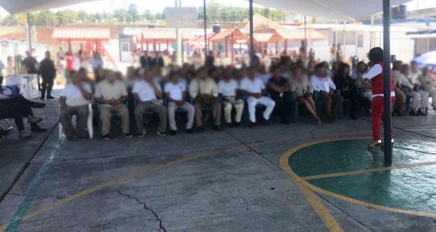 SSP capacita para el trabajo a reos en Ceresos de Puebla