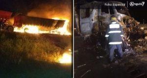Choque e incendio de camiones provoca cierre de la Puebla-Orizaba