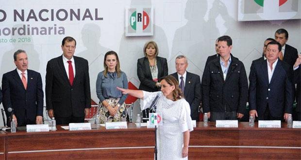 PRI ratifica como presidenta nacional a Ruiz Massieu, única candidata
