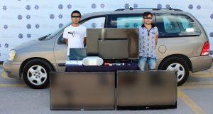 Caen dos por robo de auto y a casa habitación en San Manuel