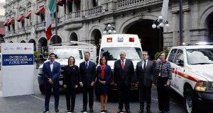 Ayuntamiento de Puebla dona tres unidades equipadas a la Cruz Roja