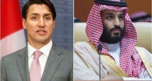 Mohámed bin Salmán, príncipe de Arabia Saudita y Justin Trudeau, primer ministro de Canadá. Foto: AFP / Reuters