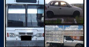 Caen 2 por robo de transporte de carga y aseguran 9 vehículos