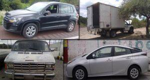 SSP de Puebla recupera seis vehículos y una caja seca