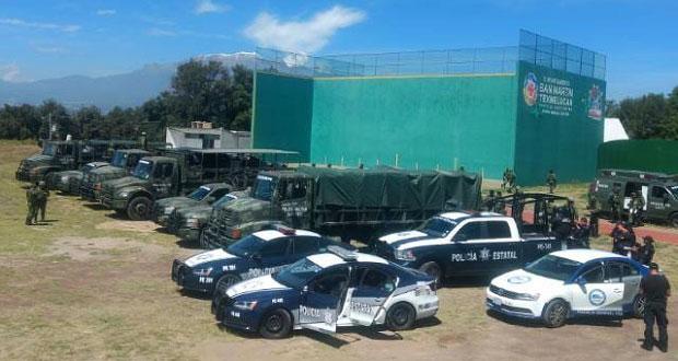 Sedena, SSP y FGE, con bases mixtas en 4 municipios de Puebla