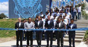 Gali y Esparza inauguran prepa de BUAP en Acajete