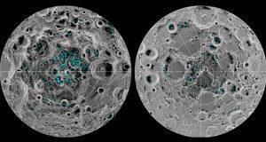 Confirman la existencia de agua congelada en polos de la Luna