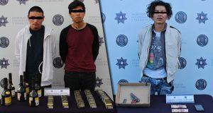 Ssptm detiene a tres hombres por robo a negocio en Puebla