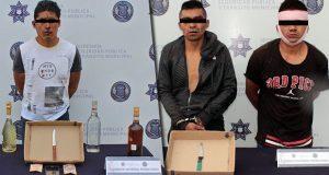 Detienen a 3 por robo a negocio y a un menor de edad por portar arma