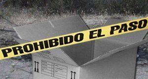 Hallan caja con sangre en su interior y narcomensajes en Yehualtepec