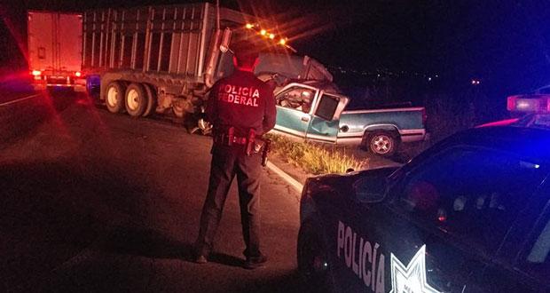 En menos de un 1 día, 2º choque deja 2 muertos, ahora en San Hipólito-Xalapa