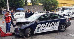 Ahora patrulla de la Ssptm choca en Xonaca