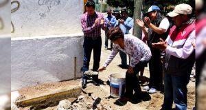 Construirán salón de usos múltiples en Chalchicomula de Sesma