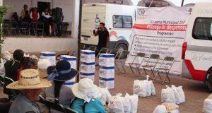 DIF entrega más de 5 mil despensas a ciudadanos de Ocoyucan