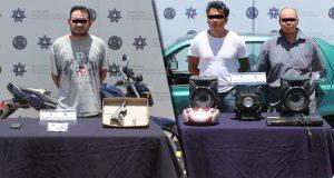Detienen a 1 por portación ilegal de arma de fuego y a 2 por robo