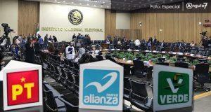 PT, NA y PVEM, los más multados por INE tras anomalías en fiscalización