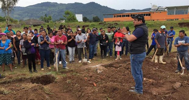 "Inicia construcción de bachillerato ""Nueva Creación"" en Huauchinango"