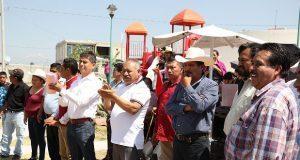 Antorcha inicia construcción de techado de cancha en Ocoyucan