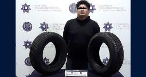 Detienen a probable asaltante de negocio en Santa Cruz Buenavista