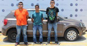 Detienen a 3 por robo a Banco Forjadores en San José Xilotzingo