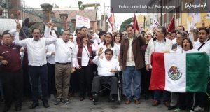 Morenistas marchan de nuevo en repudio a Martha Erika y el fraude electoral